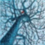 Red bird x-mas card