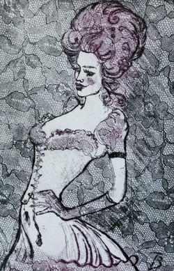 French Lace II - Etching