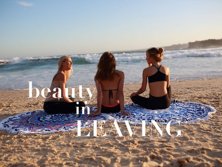 The beauty in leaving