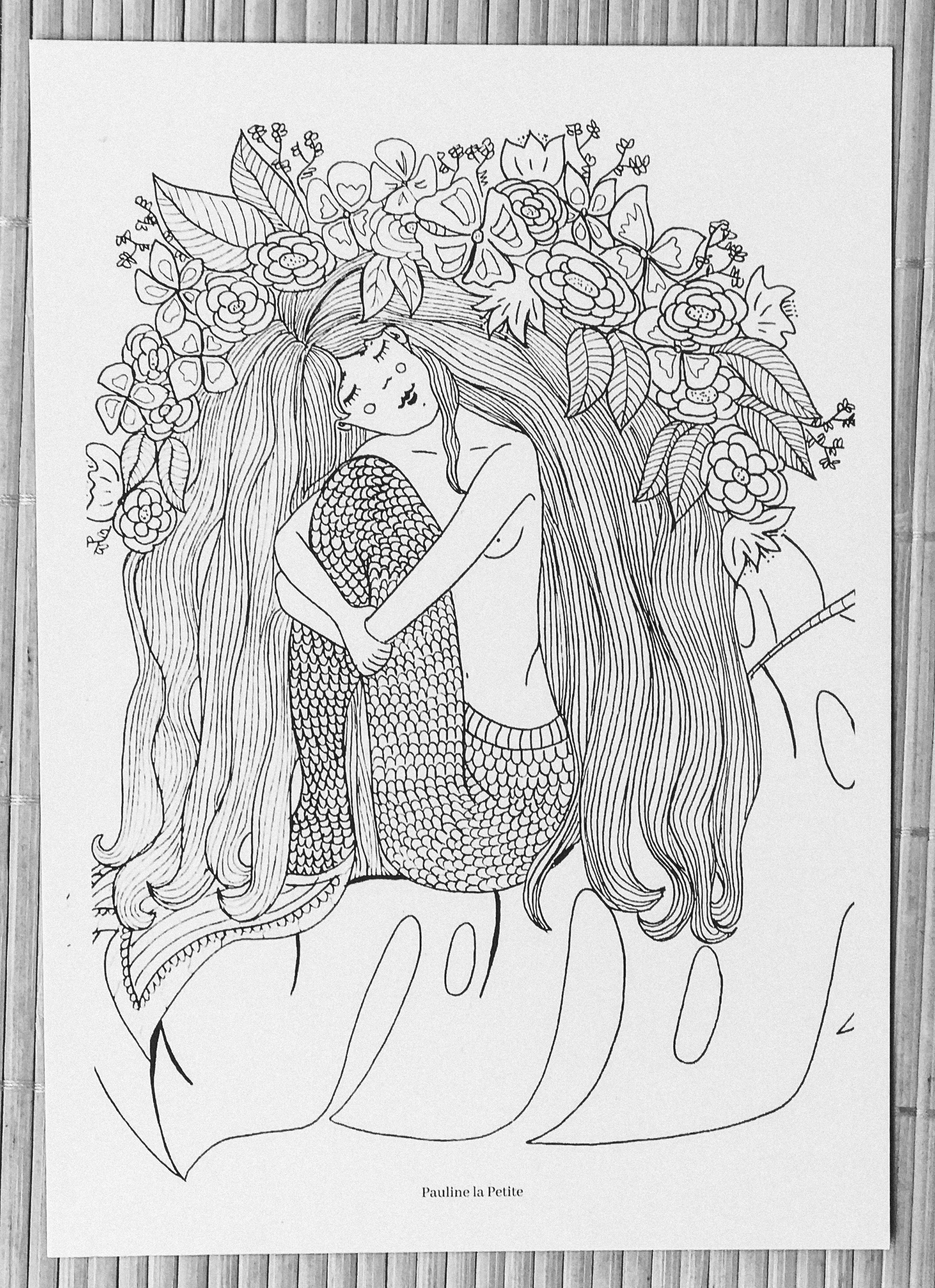 dreamy mermaid postcard