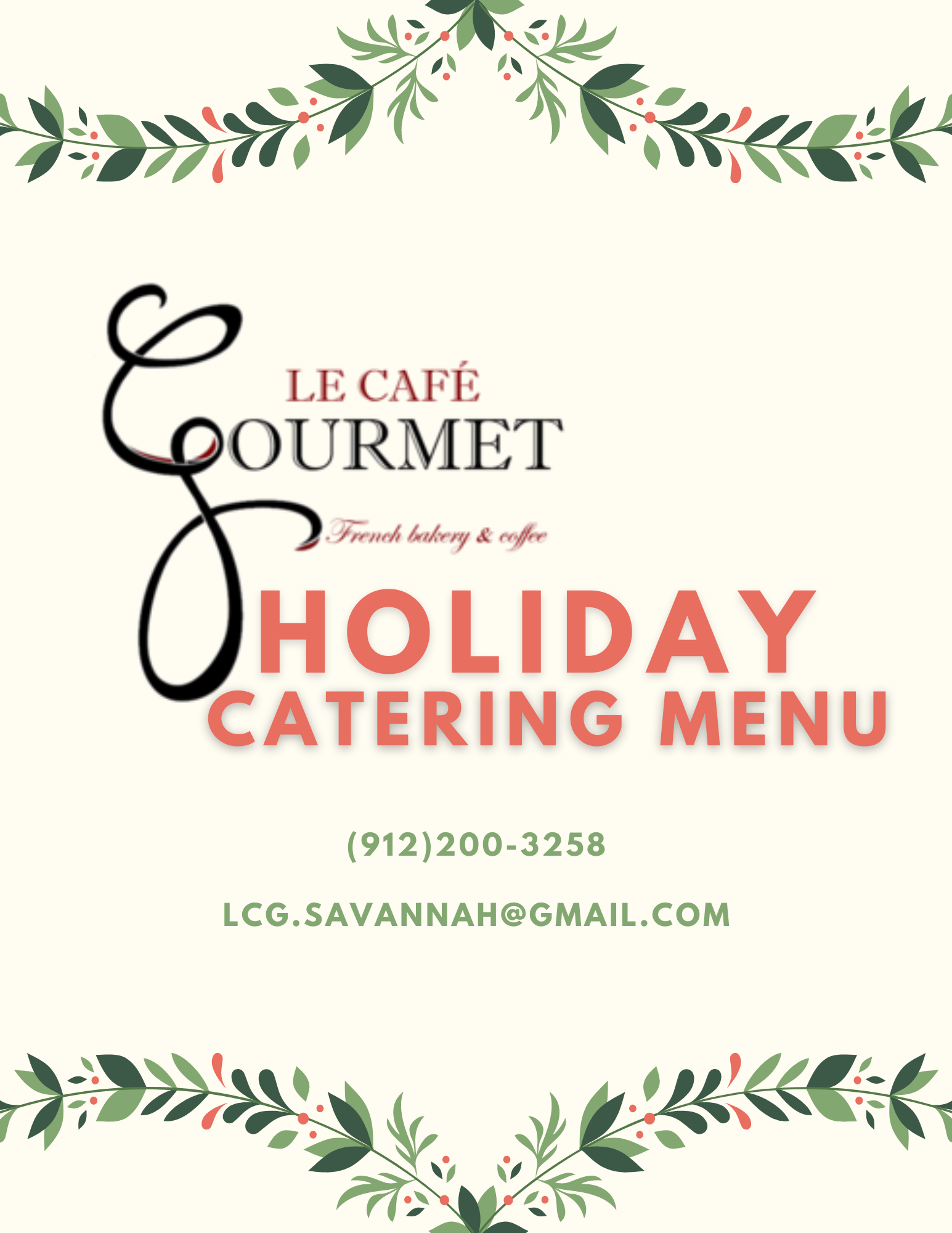 Le Café Gourmet Holiday  Menu.png