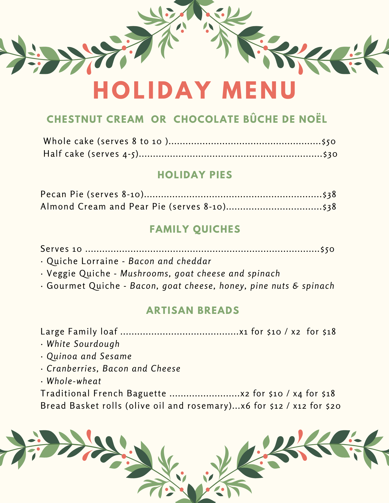 Le Café Gourmet Holiday  Menu (1).png