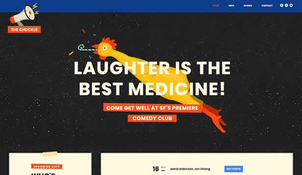 Etkinlik website templates – Comedy Club