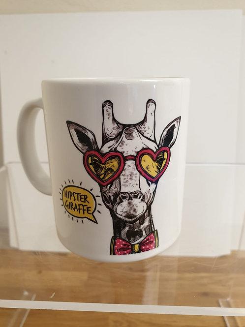Hipster Giraffe Mug