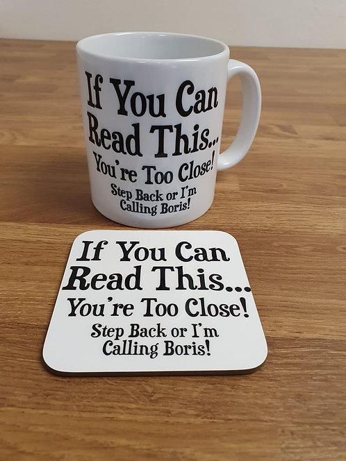Step Back Or I'm Calling Boris Mug & Coaster Set