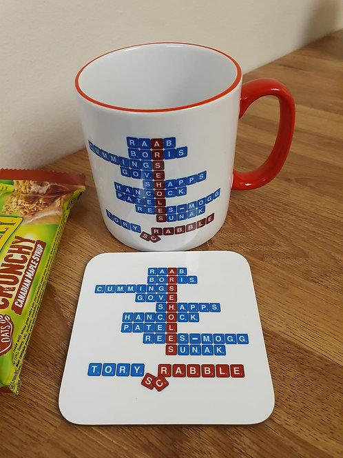 Tory Rabble Mug & Coaster Set