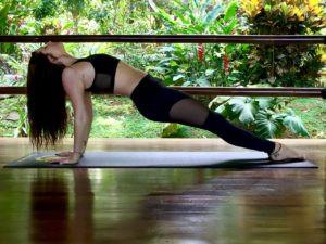 back platform yoga pose