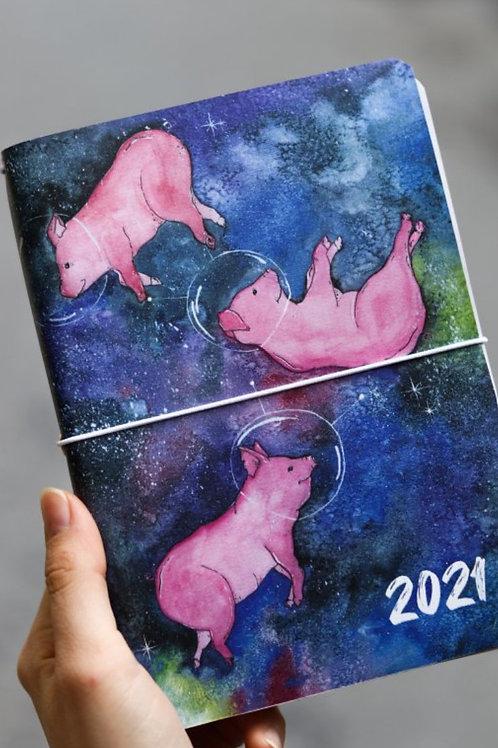 Diář pro rok 2021 Prasátka