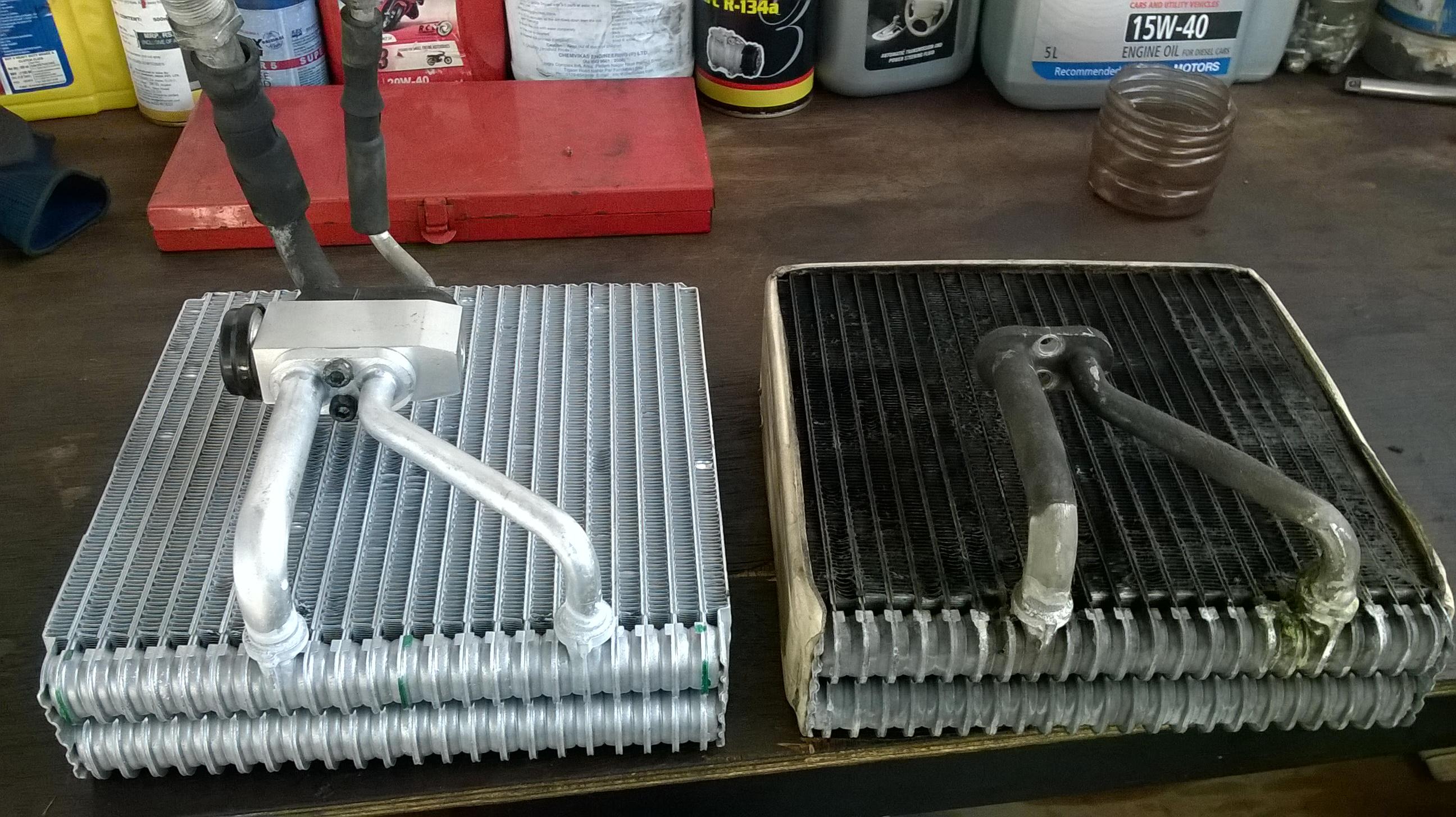 Ford Fiesta AC evaporator replacing (36)