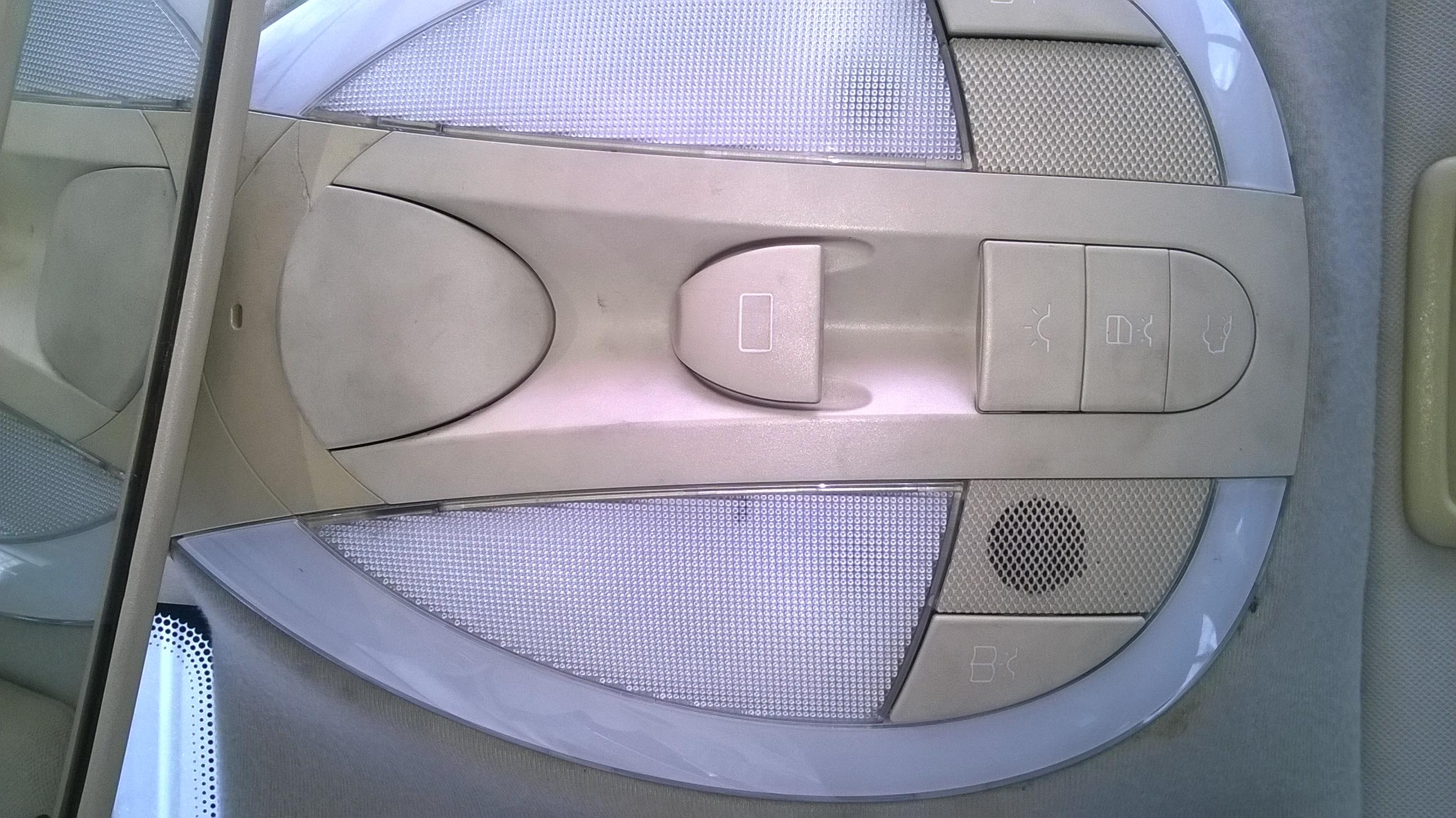 Benz E280-V6 Upper control panel repair