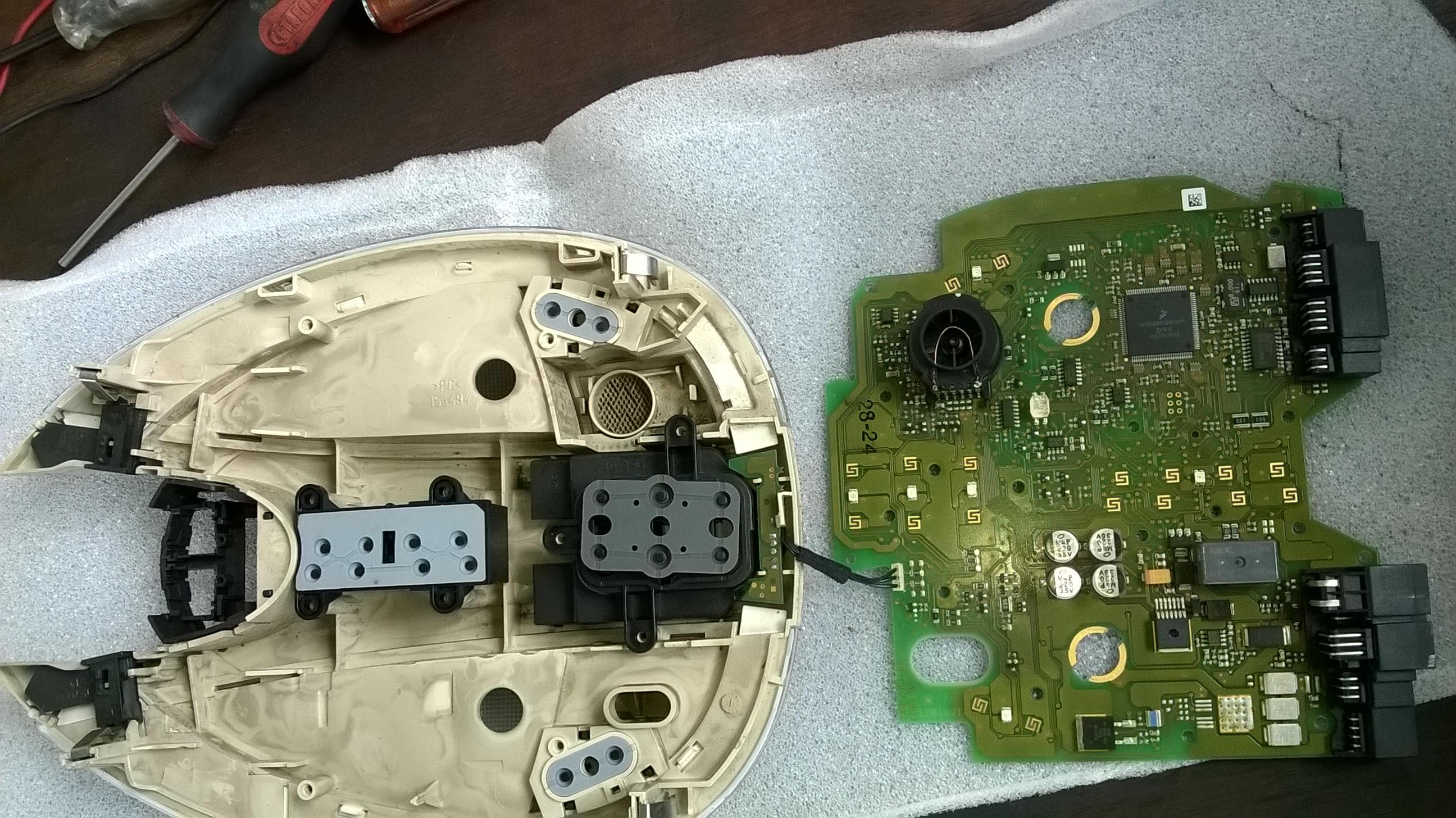Benz E280 Cabin top control panel repairing (7)