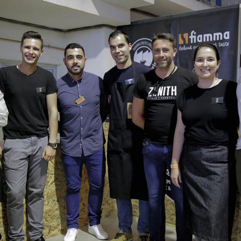 Os concorrentes com o tricampeão nacional, David Coelho e Pedro Serra da fiamma