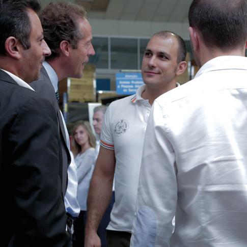 Visita proeminente: O presidente da câmara de Aveiro, Eng.o Ribau Esteves