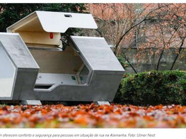 Cidade alemã tem cápsulas de dormir para população sem teto.