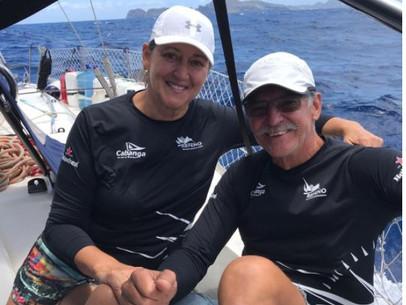 Wladimir Popoff e Rosane, passaram dos 60 anos e moram em veleiro região de Paraty .