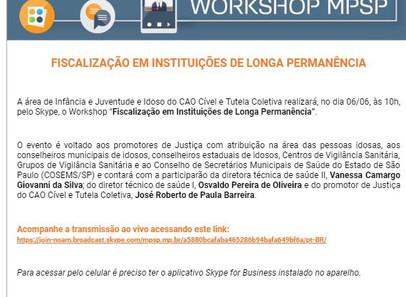 Fiscalização em Instituições de Longa Permanência.    Ministério Público.