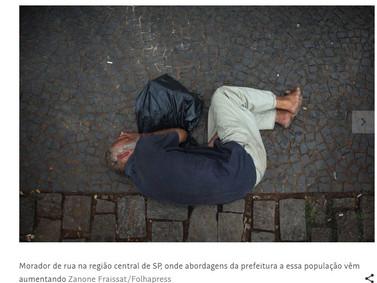 Cidade de São Paulo tem 7.002 pessoas com 50 anos ou mais vivendo em situação de rua .