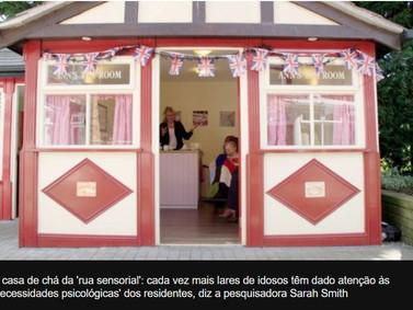 A 'rua sensorial' criada para estimular a memória de idosos com sintomas de demência