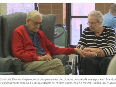 A vida não é a mesma: casal de Manitoba viveram juntos 71 anos e foram forçado a viver separados em