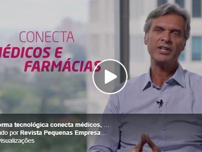 Plataforma tecnológica conecta médicos, pacientes e farmácias.
