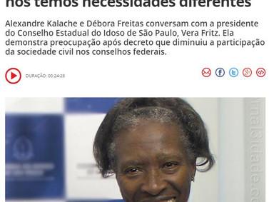 50mais CBN - Kalache e Débora conversam com a presidente do Conselho Estadual do Idoso de São Paulo.