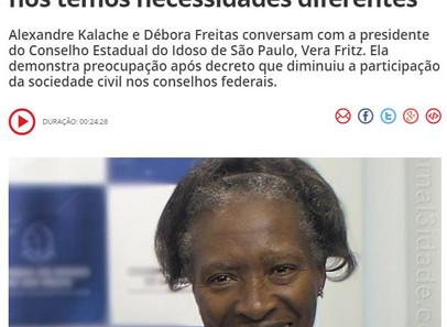 50mais CBN - Kalache e Débora conversam com a presidente do Conselho Estadual do Idoso de São Paulo,