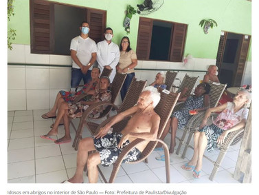 O estado SP tem 546 unidades de abrigo institucional de idosos,19 casa-lares de idosos,25 repúblicas