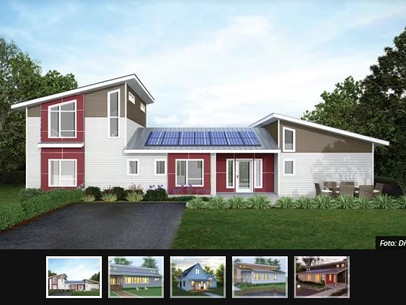 Empresa vende casas pré-fabricadas que produzem sua própria energia
