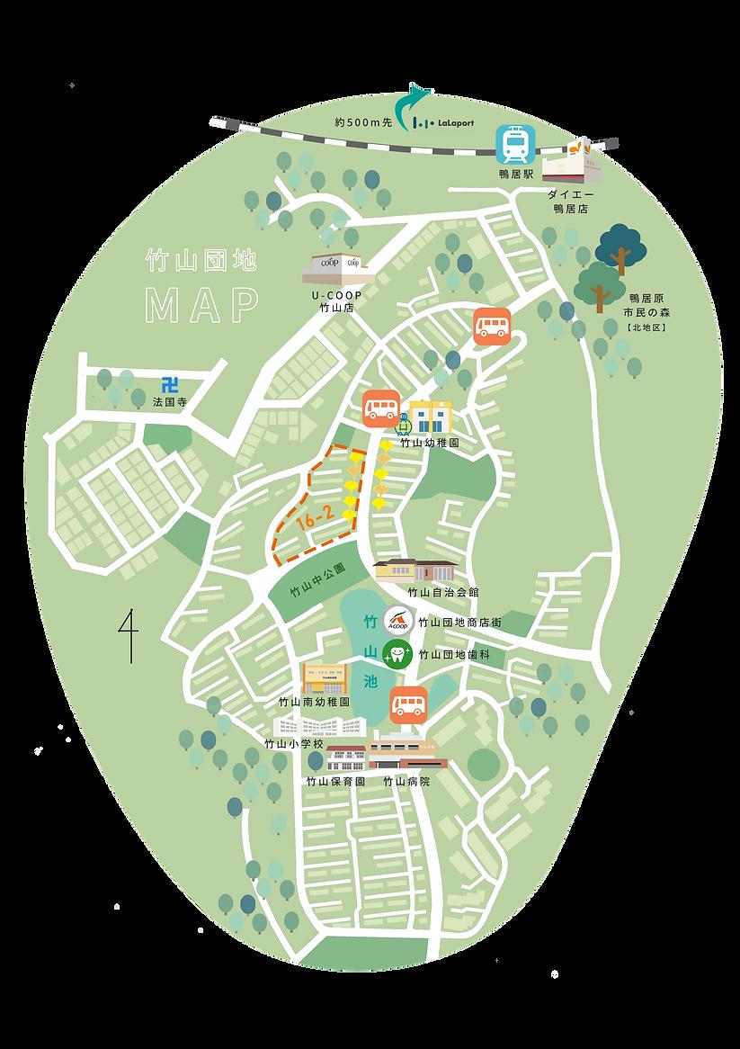 竹山団地地図 竹山16-2団地管理組合法人
