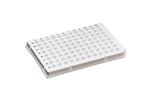 0.1mL 96 孔 PCR 反應盤 (半襯邊/Roche 專用款/白色)