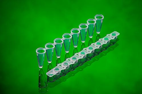 0.1 mL 平頭排蓋八連排 PCR 微量管