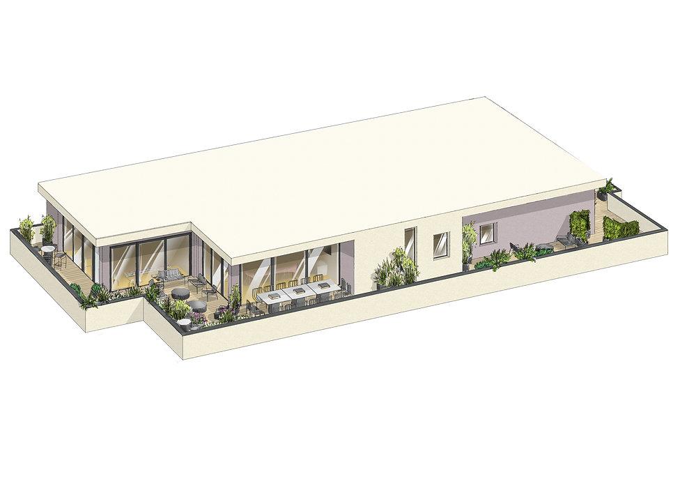 axonométrie de balcon privatif
