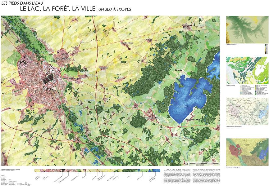 Carte des paysages de la région Auboise