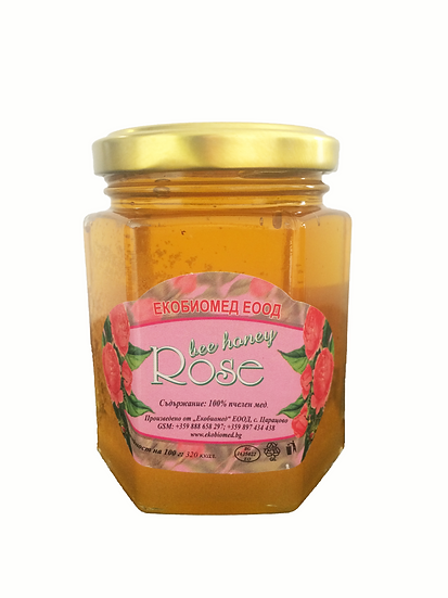 Organic Honey with Rose
