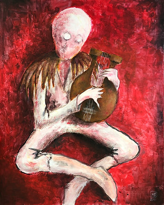A BOY WITH A LYRE HARP
