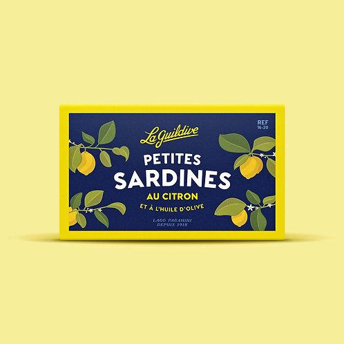 Baby Sardinen mit Zitrone und Olivenöl 16/20