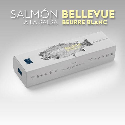 Lachs Bellevue in Sauce beurre blanc