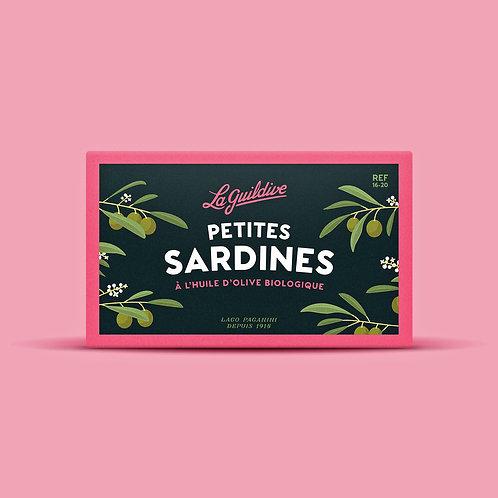 Baby Sardinen mit biologischem Olivenöl 16/20