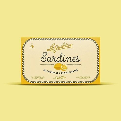 Sardinen mit Zitrone und Olivenöl