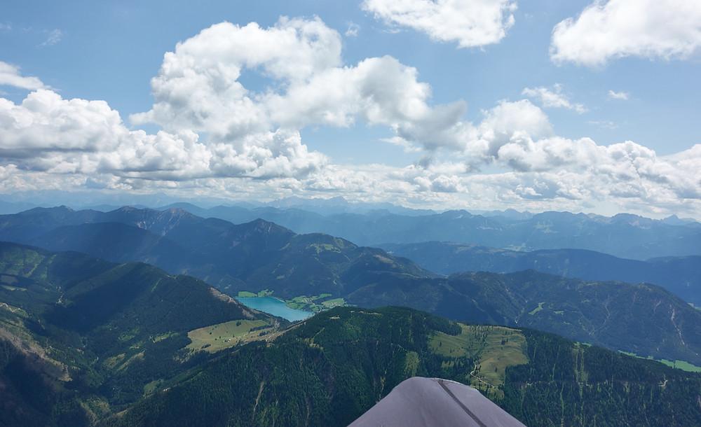 Anflug auf Plenteliz (1660m) mit Weissensee