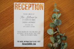 Wood Reception Card
