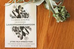 Details Card Palm Springs Wedding