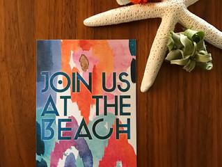 Colorful, Coastal, Bohemian Save the Dates