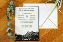Main Invitation Black & White