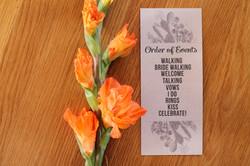 Simplistic Wedding Programs Cactus