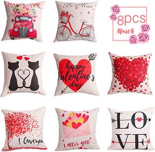 8 pcs Valentine's Day pillow cases