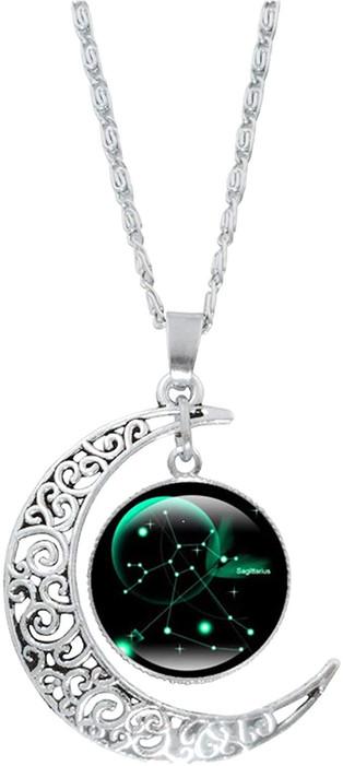 12 constellation moon necklace