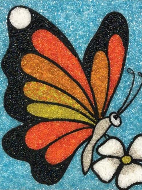 DIY Bead Mosaic Kit - Sunset Butterfly