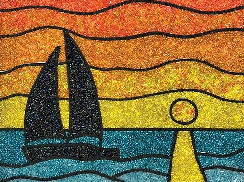 DIY Bead Mosaic Kit - Sunset Sail
