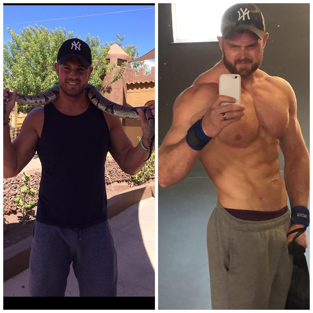 before and after of fitness journey